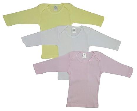 5b3fdfe73b92 Bambini Girls Pastel Variety Long Sleeve Lap T-Shirts - Small, Pink/Yellow