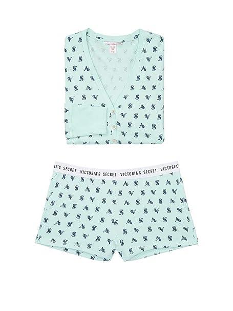 Victoria/'s  Secret Thermal Pj Set Mint VS Logo All Over Size S New