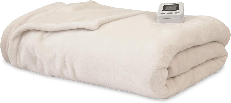 SensorPedic Heated Electric Blanket with SensorSafe, Full, Ivory