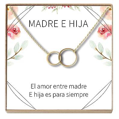 Amazon Com Collar Regalo Madre E Hija Dia De La Madre Cumpleanos