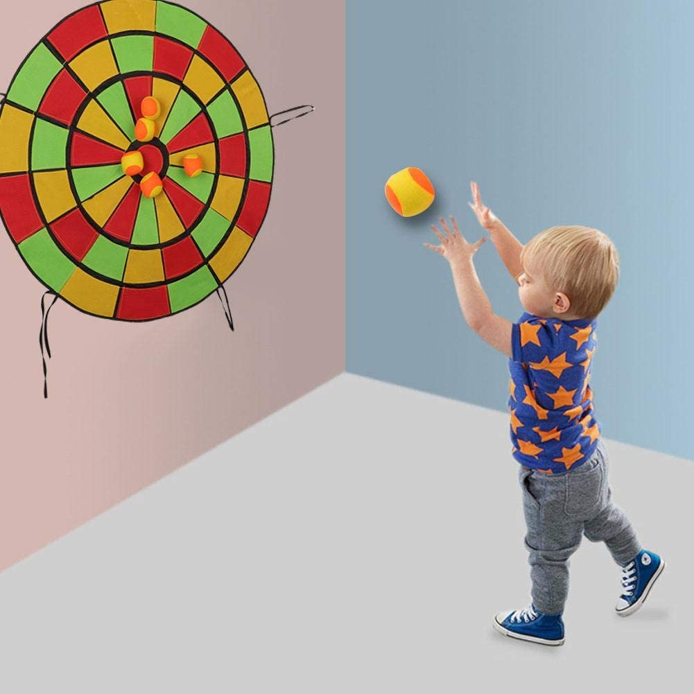 Alomejor Kinder Dartscheibe Klebrige Pfeil Brett Satz Dartscheibe mit 10 Weichen Kugeln f/ür Kinderspa/ß