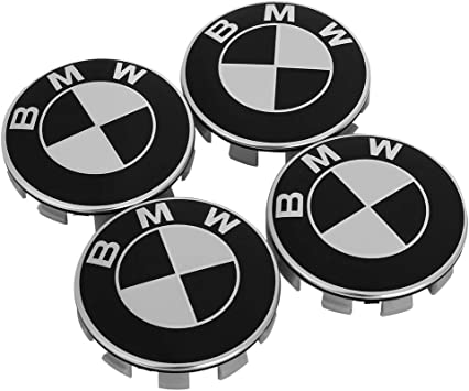 68mm BMW Rim Center Hub Caps for All Models with BMW Wheels Logo Black Color Enseng Set of 4 BMW Wheel Center Caps Emblem