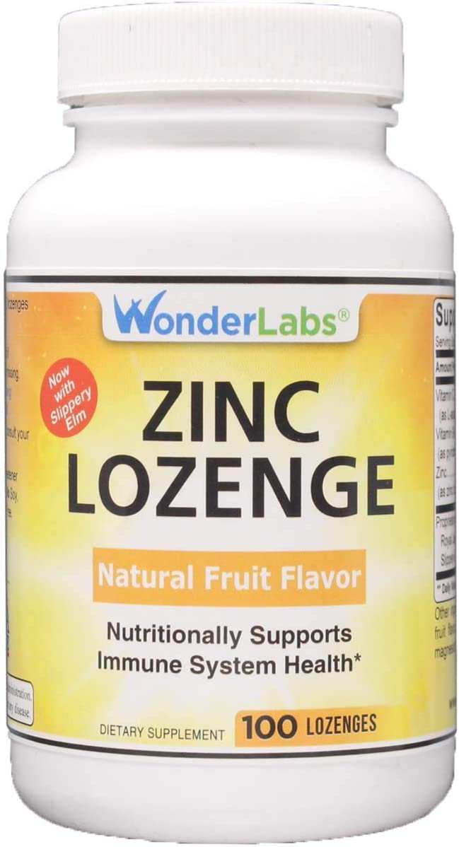 Zinc Lozenges - Fruit Flavored Support a Healthy Immune System - 100 Lozenges