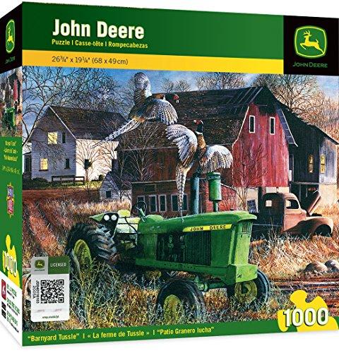 MasterPieces John Deere Barnyard Tussle - Model 4020 Series Tractor 1000 Piece Jigsaw Puzzle by Kevin Daniel