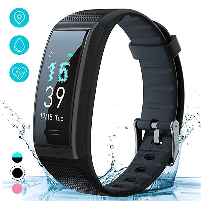 AKASO Fitness Tracker HR, Activity Tracker Watch with Heart Rate and Sleep Monitor, Waterproof Step Counter, Calorie Counter, Smart Fitness Watch for Kids Women and Men (Black) best fitness tracker watch