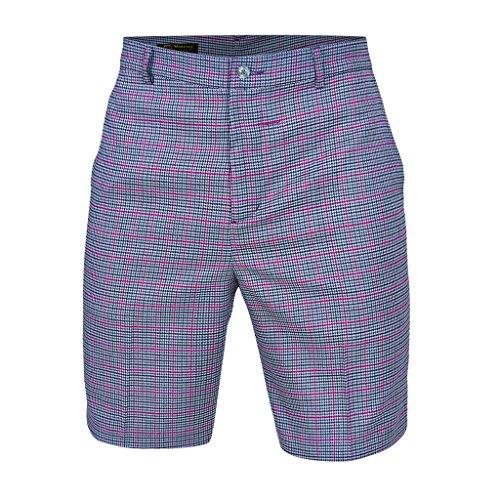 Plaid Fairway (Monterey Club Mens Plaid Madras Shorts #1848 (Ivory/Venetian Red, Size:36))