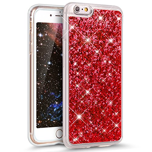 iPhone 6S Plus Case,iPhone 6 Plus Case,ikasus Ultra Thin Soft TPU Sparkly Shiny Glitter Bling Soft Silicone Rubber Bumper Case,Crystal Clear Soft Glitter Silicone Case for iPhone 6S/6 Plus (Sparkly Microphones)