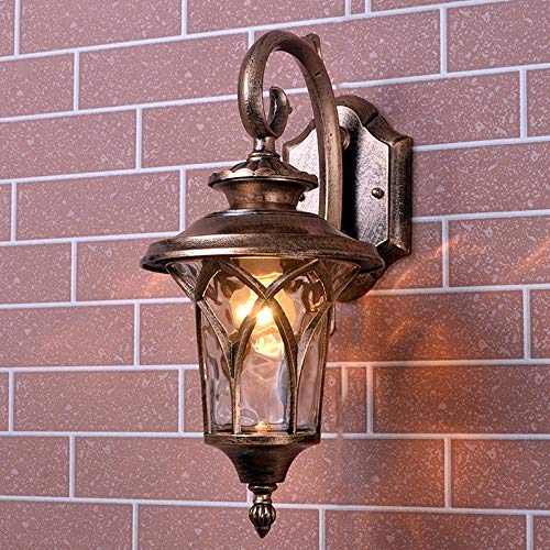 Wylolik Outdoor Wall Light LED Waterproof Industrial Decor Outside Wall Lamp Fence Light Black Wall Sconce Transparent Glass Wall Lantern Aluminum Lighting Fixtures Porch Balcony Patio Dusk lightlian