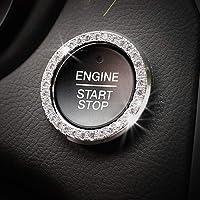 Car Decor Crystal Rhinestone Auto Engine Start Stop Key & Knobs Decoration Crystal Interior Ring Decal Fit Nissan Rogue Sentra Altima Murano Kicks Maxima 370z Qashqai Accessories