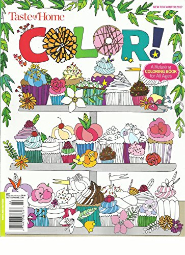 TASTE OF HOME COLOR MAGAZINE A RELAXING COLORING BOOK FOR