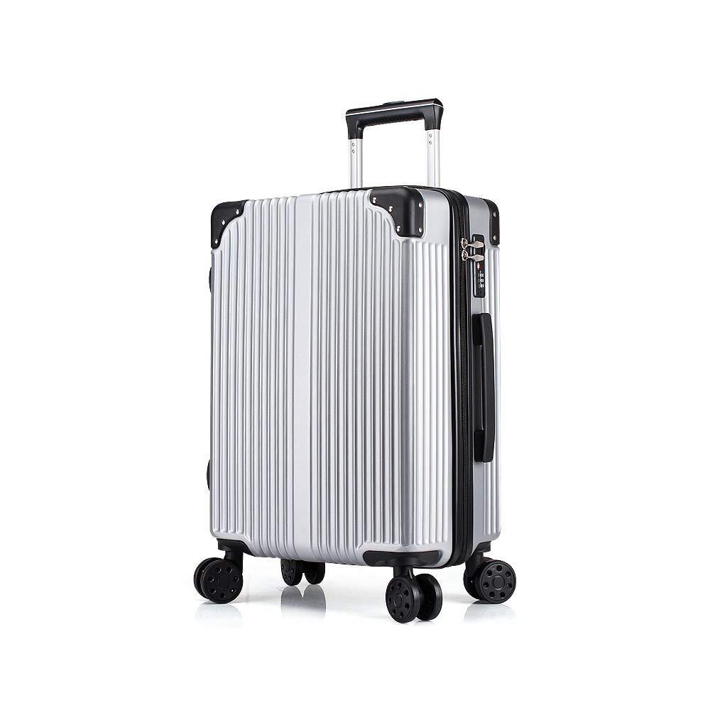XF 小さい新鮮なスーツケースパスワードトロリーケース学生男性と女性のキャスタートラベルバッグ韓国語版、ピンク、シルバー、ブラック トラベルバッグスーツケース (Color : B, Size : 35cmX23cmX50cm) B07T4KXVDY B 35cmX23cmX50cm