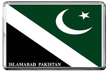 A061 Islamabad Flag Kuhlschrankmagnet City Of Pakistan Refrigerator