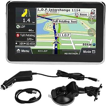 GPS, Universal 5 pulgadas de pantalla táctil de navegación GPS navegador de coche de 256MB 8GB MP3 FM del mapa de Europa 508: Amazon.es: Coche y moto