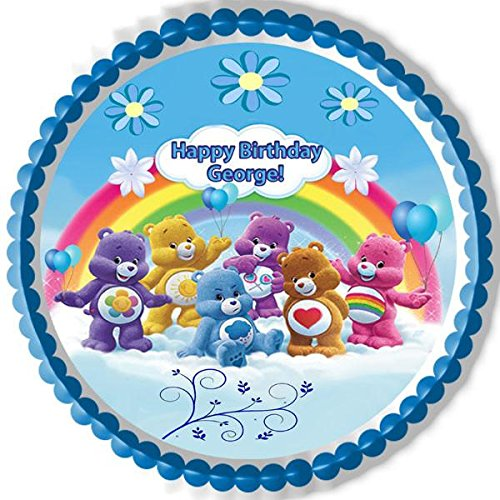 Care Bears 7 Inch Edible Image Cake /& Cupcake Toppers// Party// Birthday 1