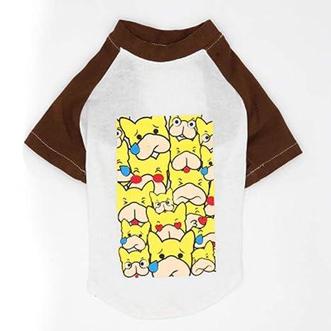 WEIWEITOE Pet Vest Creative Shirt Summer Spring Shirt T ...