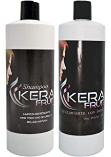 Brazilian keratin treatment KERA FRUIT Keratina chocolate brasileña profesional + Shampoo (Fast Shipping) Usa