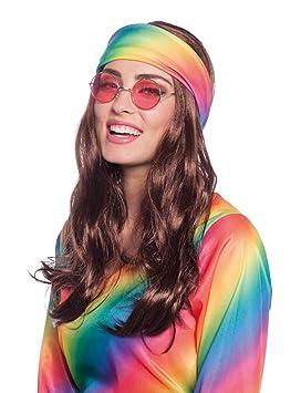 Folat Peluca Hippie fastnacht de Carnaval: Amazon.es ...