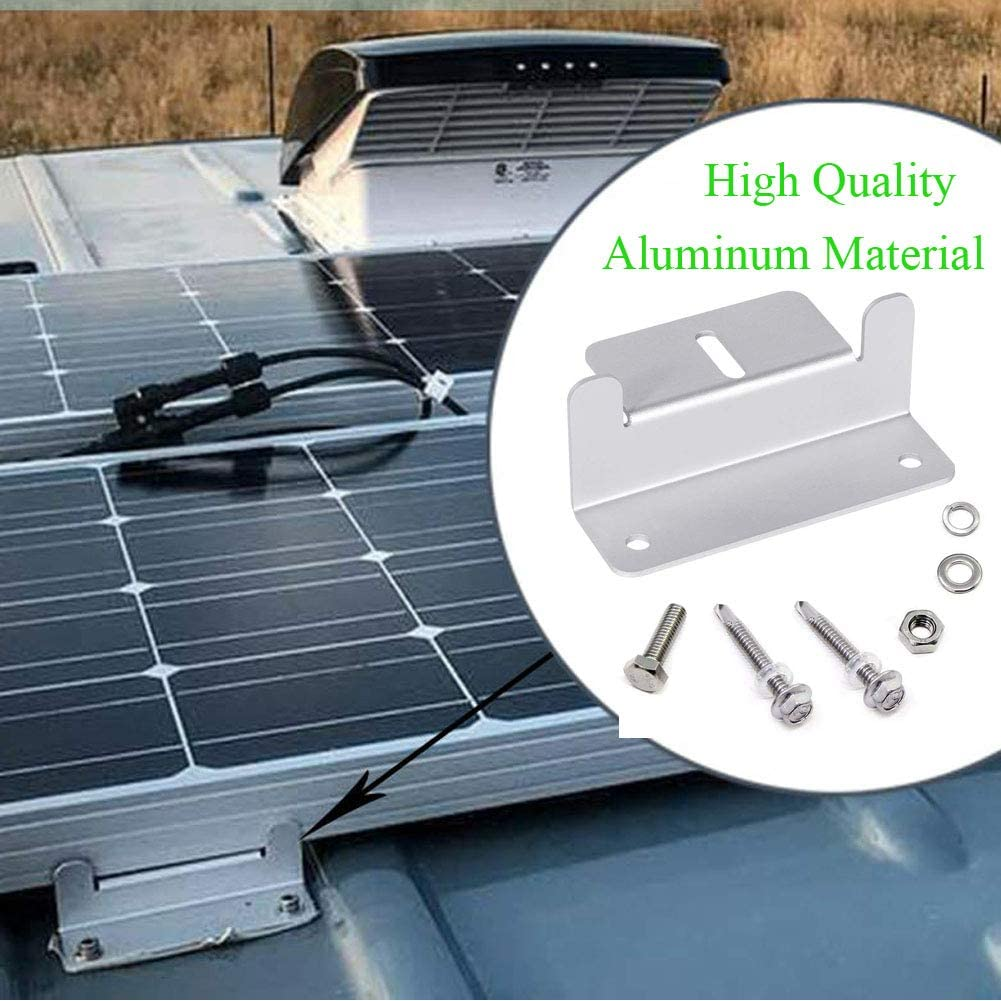 Set of 4 Units Boat Wall and Other Off Gird Roof Installation TONG GOODSHNEG Solar Panels Mounting Z Brackets Mounts Kit with Nuts and Bolts for RV Roof
