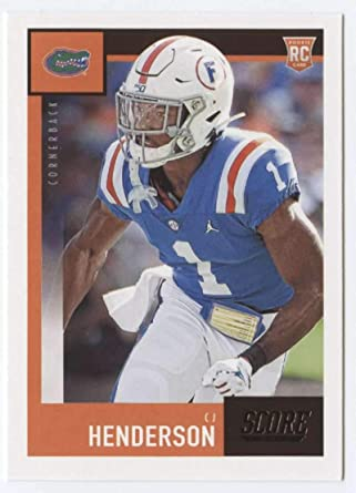 Amazon Com 2020 Score Football 332 Cj Henderson Rc Rookie Florida Gators Official Nfl Trading Card Made By Panini America Collectibles Fine Art
