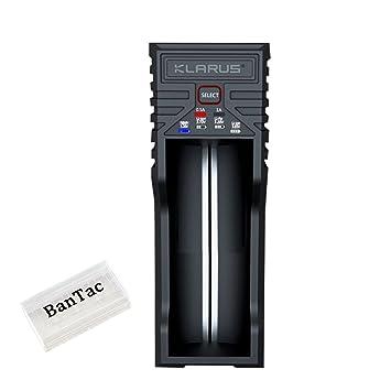 Klarus K1 Smart Batería Cargador para 26650 22650 18650 18490 ...
