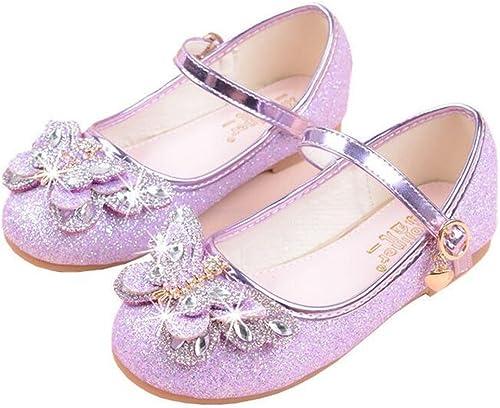 Amazon.com: bumud Niñas Mary Jane boda zapatos de fiesta ...