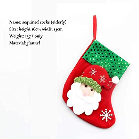 SPFAZJ Fuentes de Navidad Medias Navidad Calcetines de Navidad Decoraciones de la Navidad Colgante del árbol