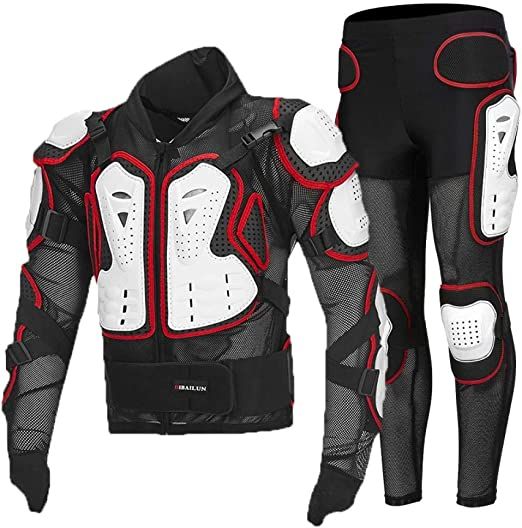 /équipement de protection contre les sports extr/êmes veste de moto pour homme,Costume noir 3XL /équipement de protection hors route Armure de moto