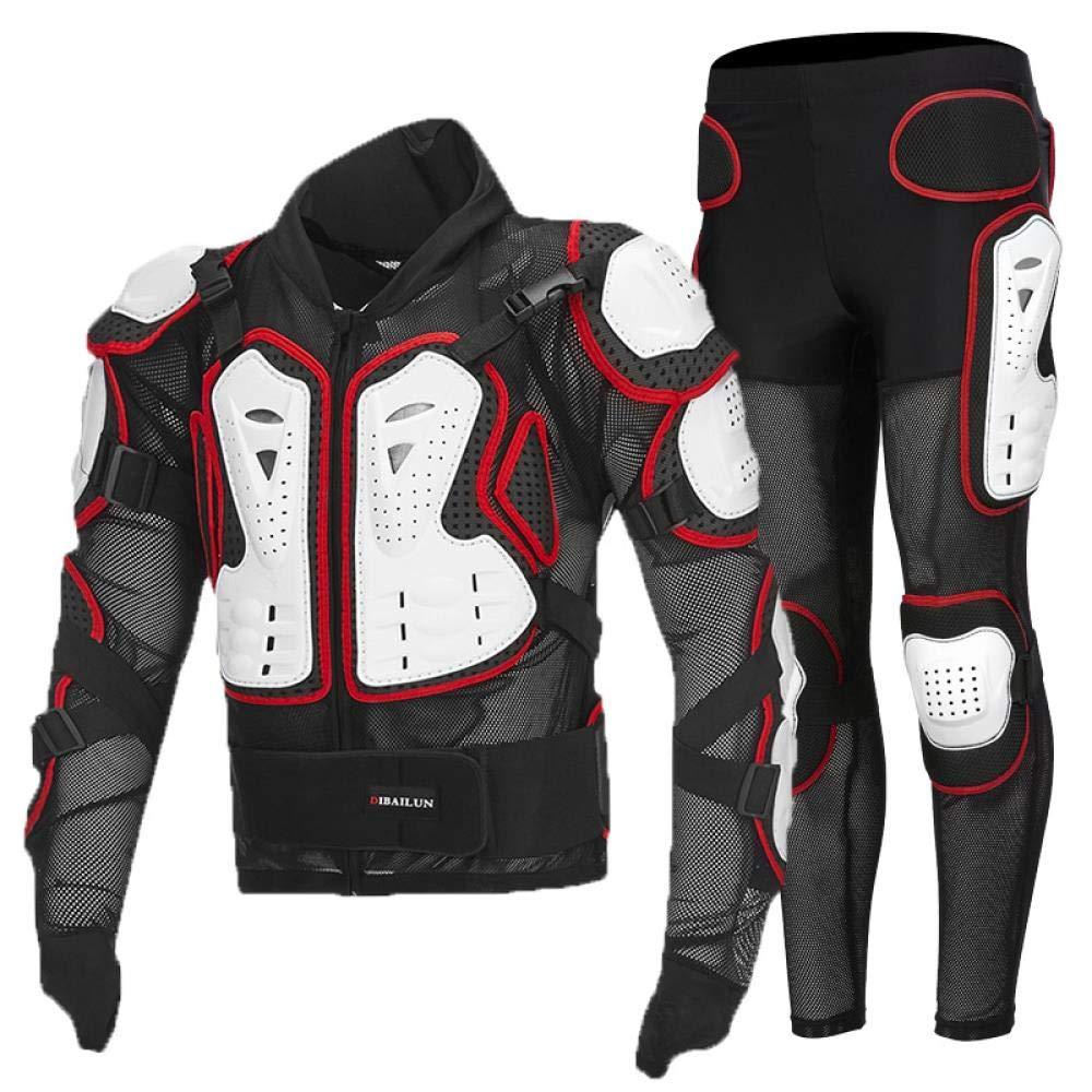 abbigliamento protettivo da discesa abbigliamento protettivo per sport estremi allaperto Schwarzer Anzug 3XL giacca da corsa da uomo per donna YIOO Armatura integrale per moto