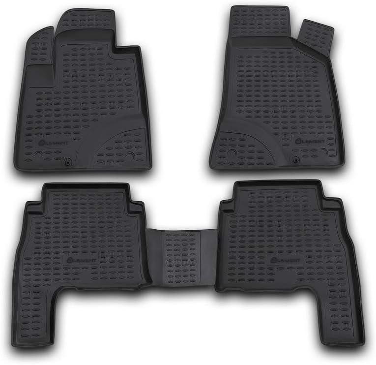 Element Exp Nlc 20 18 210kh Passgenaue Premium Antirutsch Gummi Fußmatten Hyundai Santa Fe Jahr 06 10 Schwarz Auto