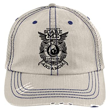 You Can Not Scare Me Hat, I'm A Police Officer Trucker Cap