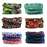 Toes Home 6PCS Outdoor Magic Headband Elastic Seamless Bandana Scarf UV Resistence Sport Headwear Boho Series for Yoga Hiking Riding Motorcycling: more info