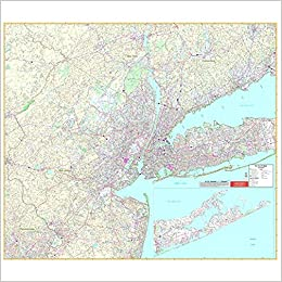 Map Of New York Tri State Area.Amazon Com New York Tri State State Wall Maps 9780762538768