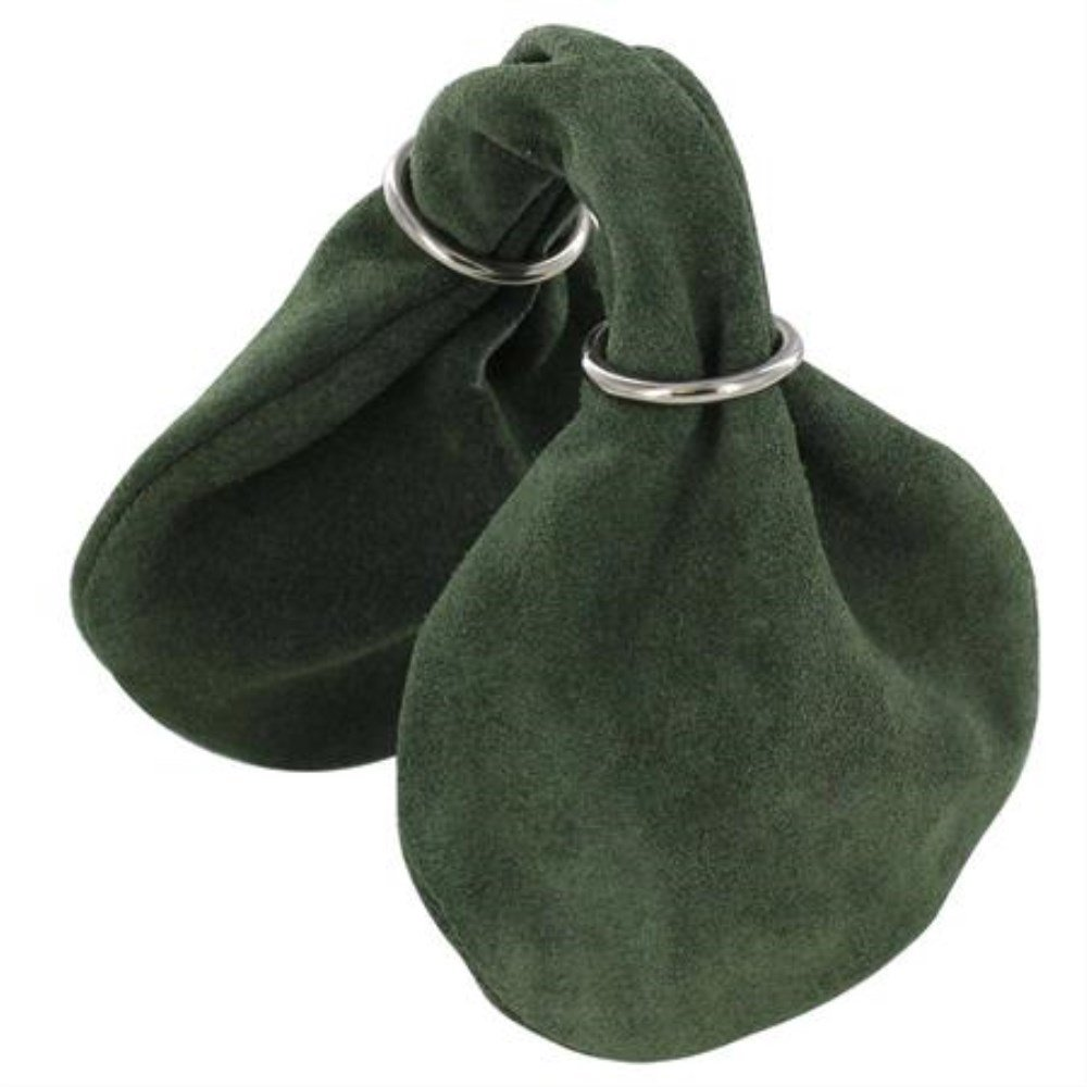 Peasant's Penny Farthing Suede Coin Pouch