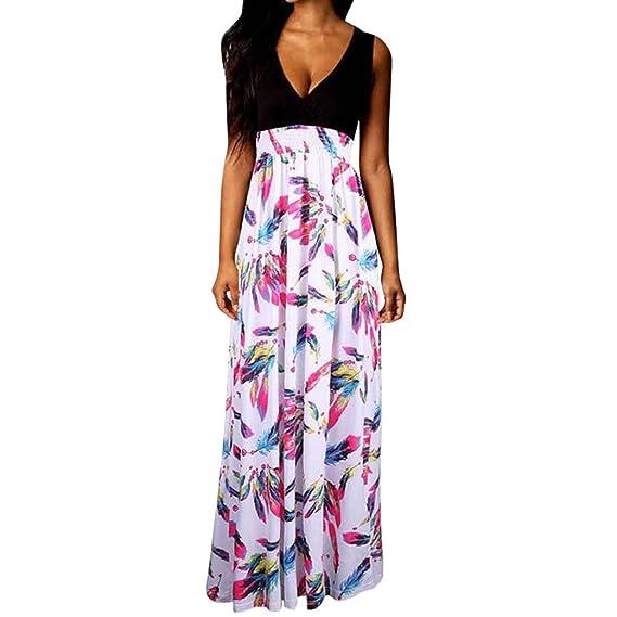Damen Sommerkled Schulterfrei Strandkleid Maxikleid Cocktailkleid Partykleid