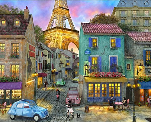 Springbok Puzzles - Eiffel Magic - 1000 Piece Jigsaw Puzzle - Large 30 Inches by 24 Inches Puzzle - Made in USA - Unique Cut Interlocking ()