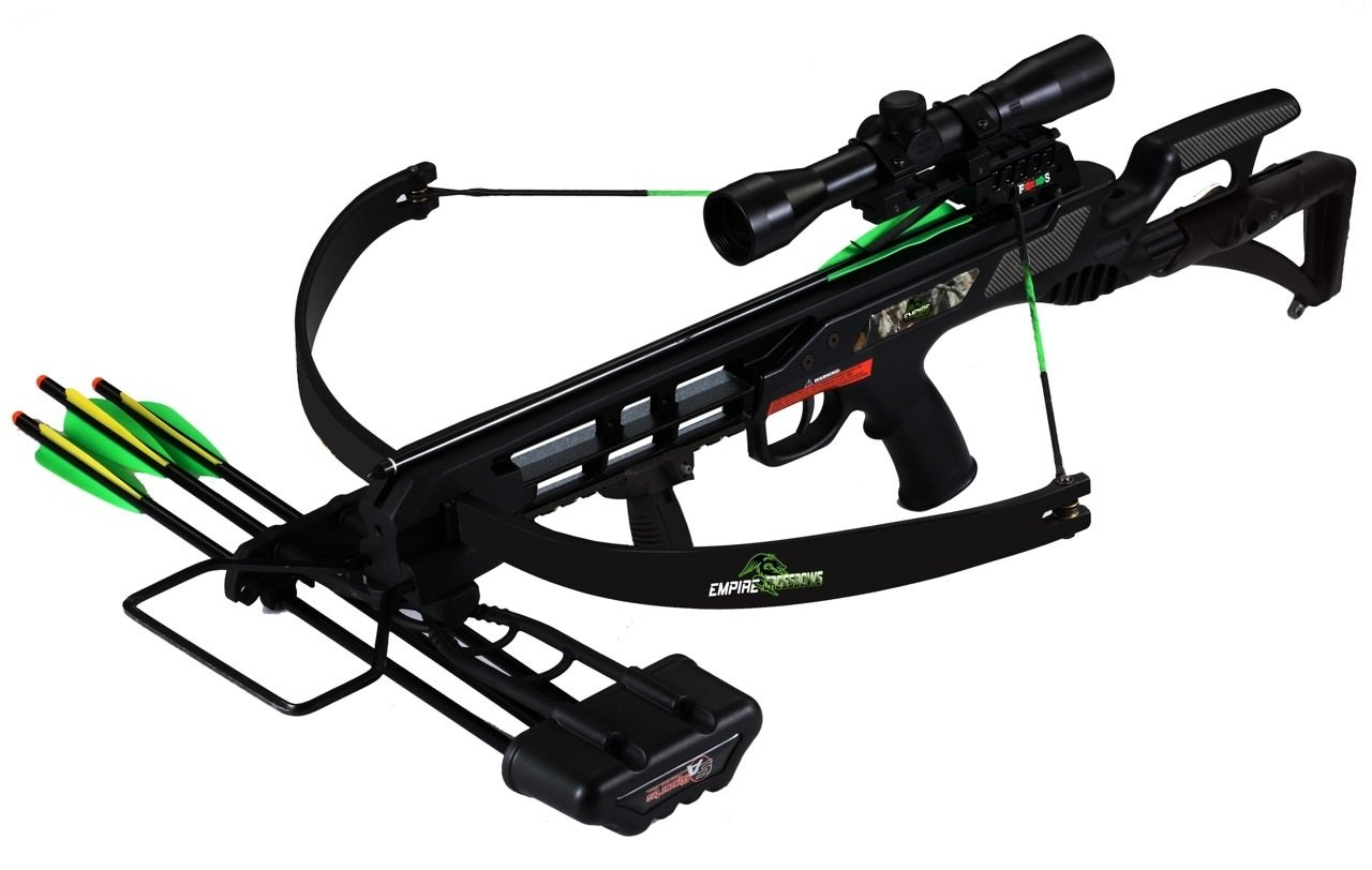 SA Sports Empire Terminator Recon Recurve Crossbow w. 4x32 Multi-Range Scope, 175Lb, 260 Fps (613)