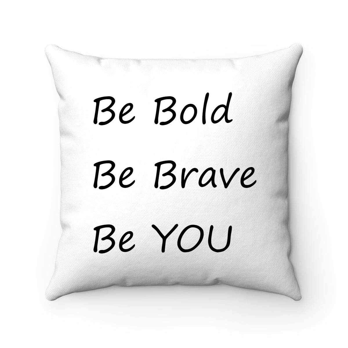 Buy Fabricmcc Throw Pillow Cover Be Bold Be Brave Be You Quote Words Square Decorative Canvas Cushion Cover Throw Pillowcase For Couch Online At Low Prices In India Amazon In