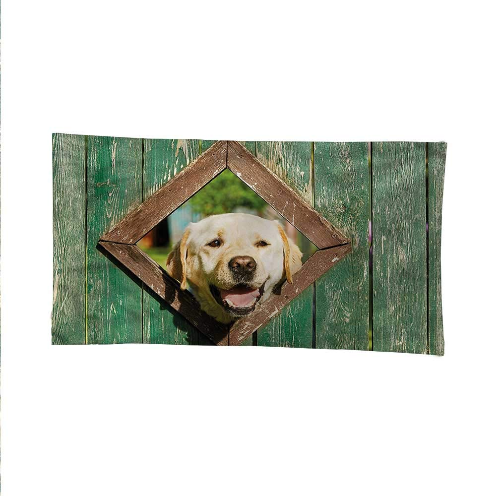 color08 93W x 70L Inch color08 93W x 70L Inch Funnytapestrywall tapestryCurious Dog Looks from Window 93W x 70L Inch