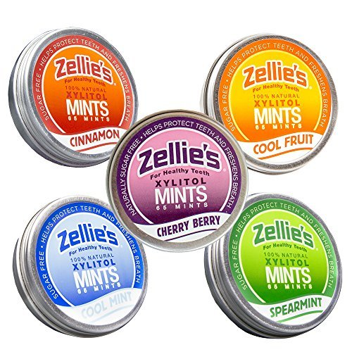 (Zellies Mints, 100% Sugar Free, Assortment Bundle, 325 Pieces, 5 Tins)