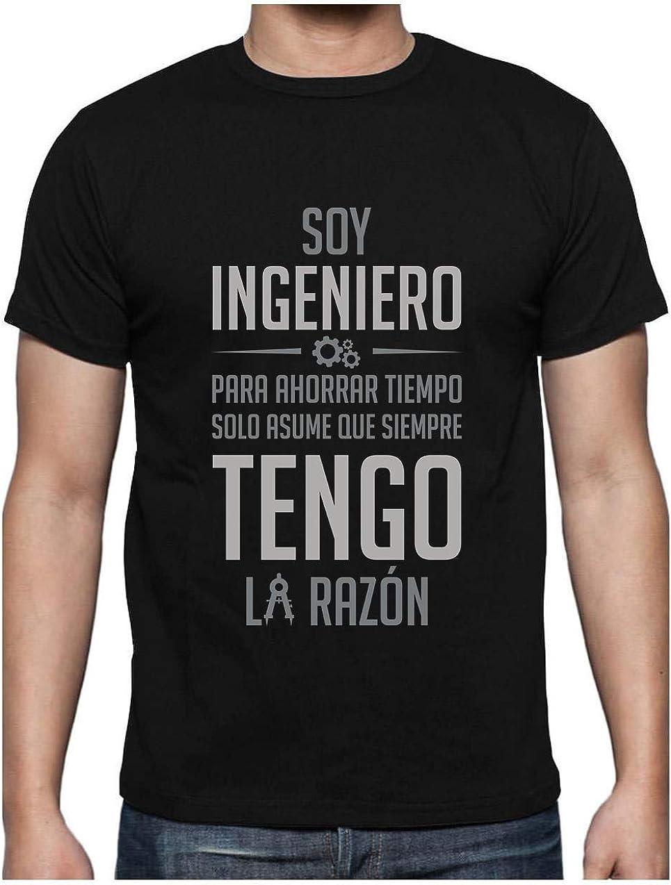 Green Turtle T-Shirts Camiseta para Hombre - Regalos para Ingenieros - Soy Ingeniero Asume Que Siempre Tengo la Razón