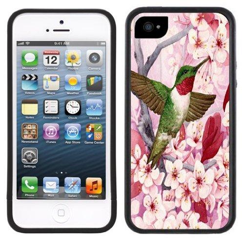 Kolibri Blumen | Handgefertigt | iPhone 5 5s | Schwarze Hülle