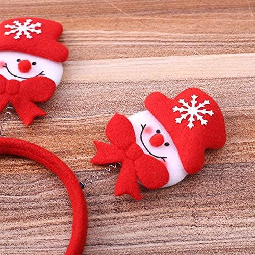 Noël Enfants Adultes Nouveauté Serre-tête Noël Tête bopper-Rouge Flocon De Neige Tête Bopper