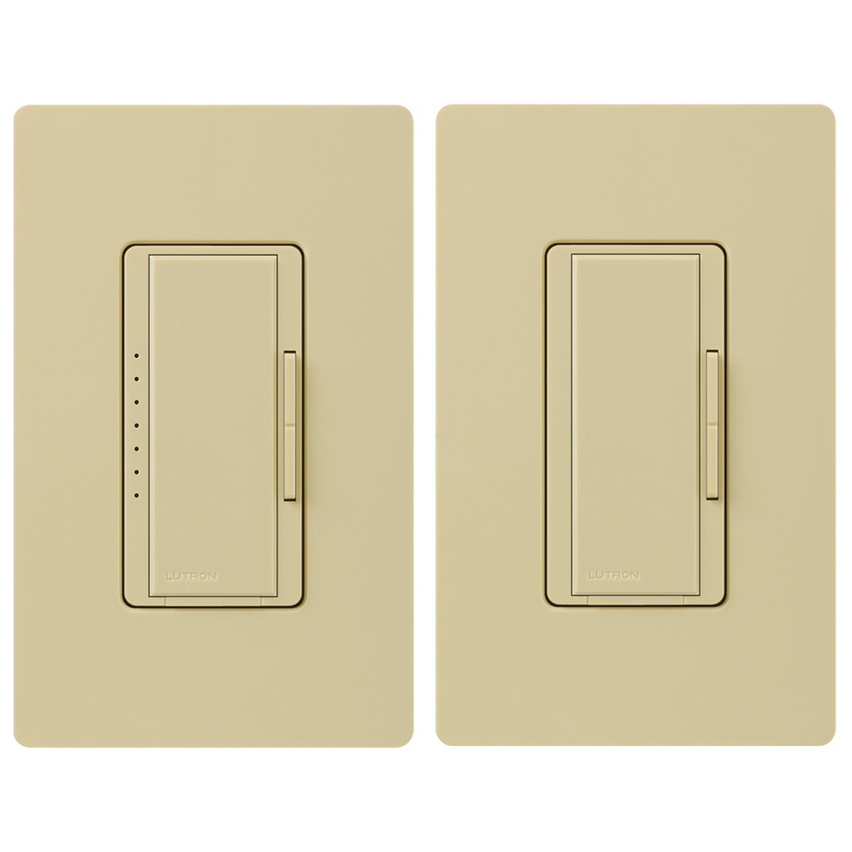 Lutron MACL-153M-RHW-IV Maestro 150-Watt Multi-Location CFL/LED Digital Dimmer Kit, Ivory