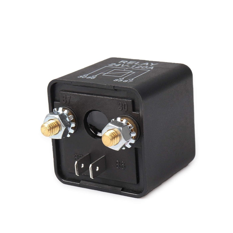 Ehdis/® 12V 120A 4 Pin auto scatola nera Relay batterie per automobili sul traffico pesante camion Escavatore Van barca 2 Pin Footprint 2 Terminal 1 Set