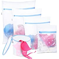 Plusmart 5Pack Mesh Laundry Bags for delicates, Bra Lingerie Wash Bags for Washing Machines, Sock, Bra, Underwear…