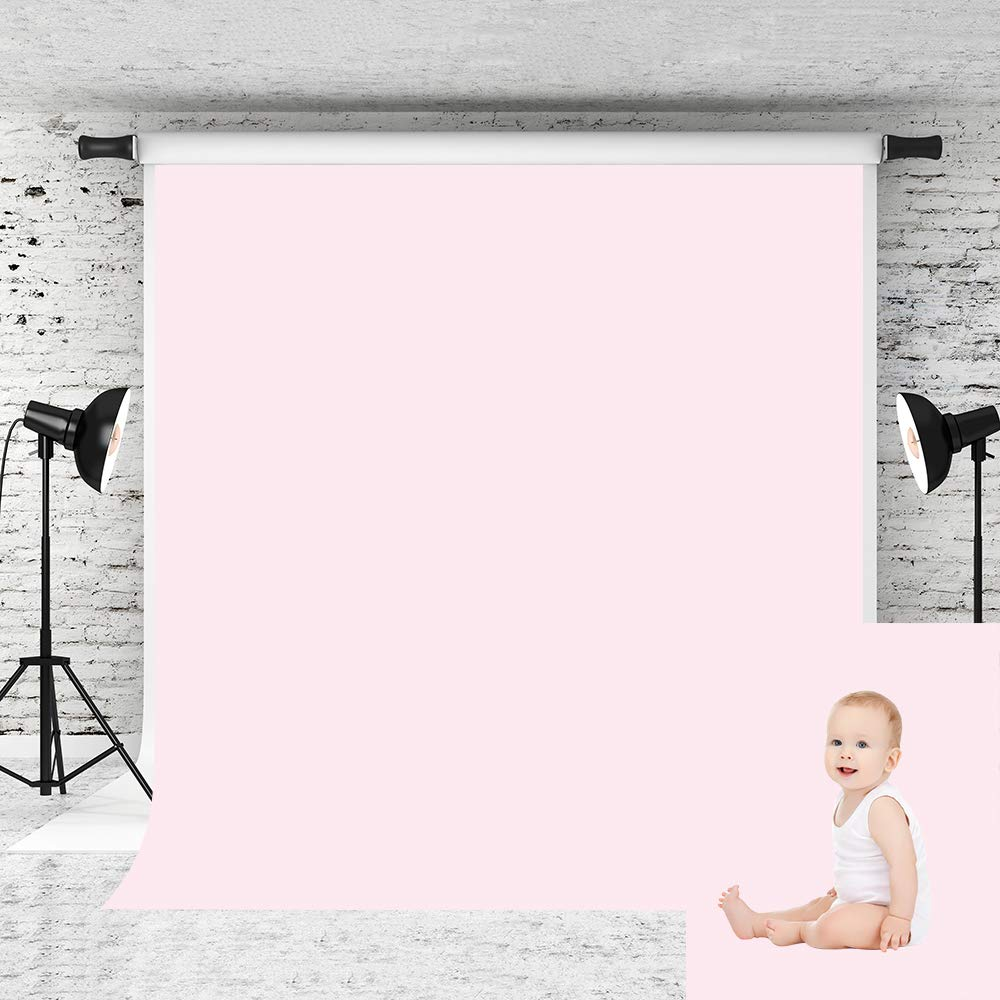 Kate 5x7ft Pure Pink Backdrops Light Pink Solid Color Background Cotton Studio Photo