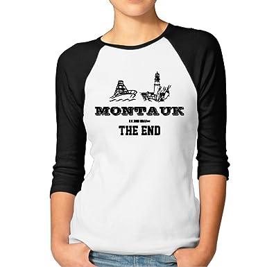Montauk Fine Manicotto Lungo Maglietta G16TWIi0o