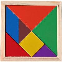 La Cabina Jouet en Bois Tangram Puzzle de Développement Jeu de Puzzle Jouets Educatifs Multicolore Cadeau pour Enfants