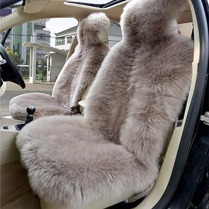 Brown Opzioni Colore Multiple Pelliccia Completa Coprisedile Anteriore Singolo Auto Macchina Seat Cover Universale Australiana Genuina Pelliccia di Lana di Pecora Protezione Sedile