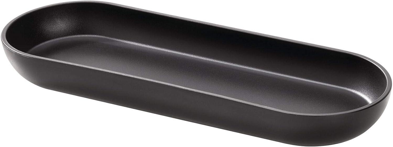 Bandeja para ba/ño 24,5 cm x 8,9 cm x 2,4 cm peque/ño Separador de cajones en pl/ástico iDesign Cade Organizador de Maquillaje Blanco
